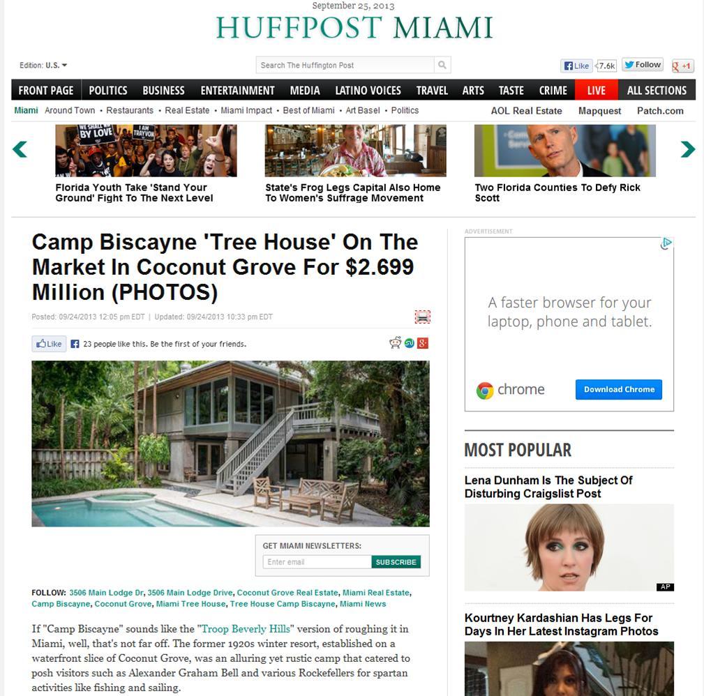 Camp Biscayne Huffington Post