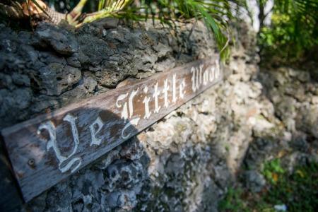 Ye Little Wood Sign At Entrance