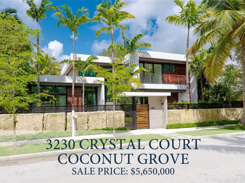 New Construction Home Sold In Coconut Grove