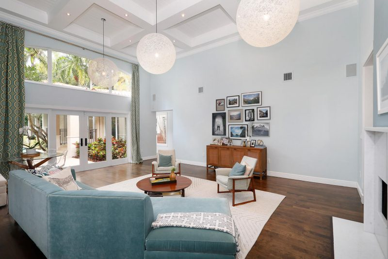 Living Room at 3010 Emathla Street, Coconut Grove